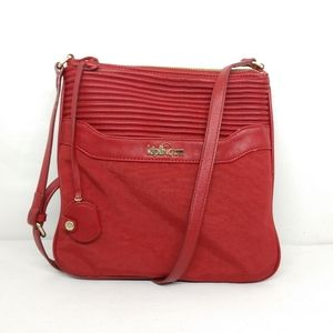 Kipling Red Faux Leather Thora Crossbody Purse
